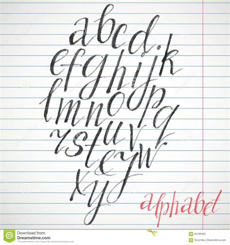 Handmade Letters - handmade brush font vector illustration cartoondealer