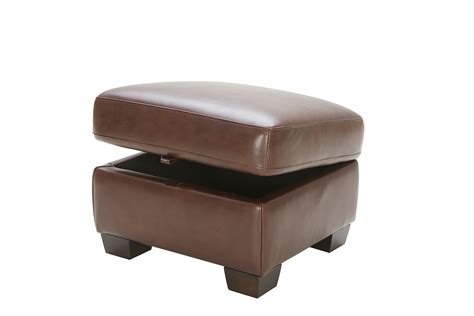 top grain leather storage ottoman elements fine home furnishings lodge top grain leather