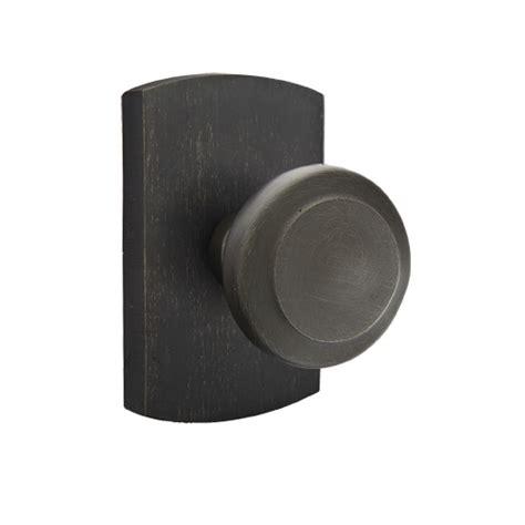 emtek sandcast bronze butte door knob set low price door