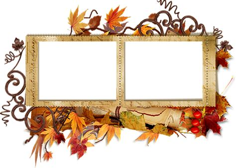 double transparent autumn frame gallery yopriceville high quality images  transparent png