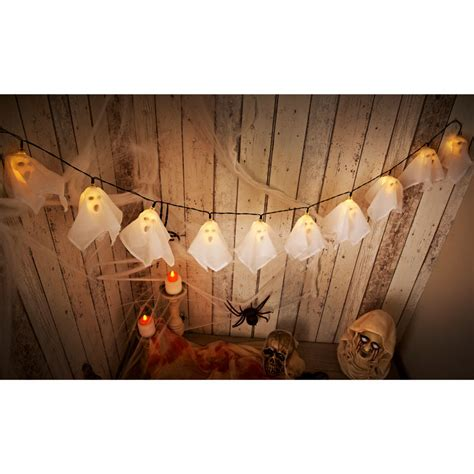 halloween ghost string lights 10 ghost string led lights white halloween lights b m