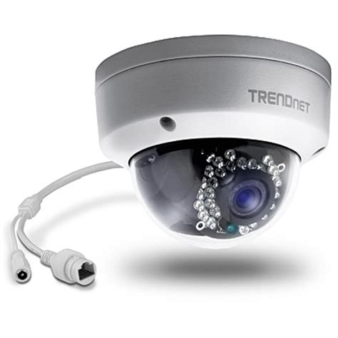 indoor / outdoor 1.3 mp hd poe dome ir network camera