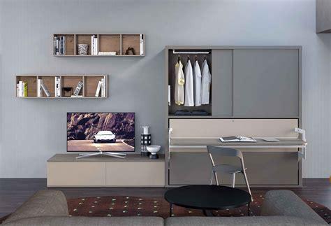 parete con letto a scomparsa parete attrezzata con armadio e letto a scomparsa dynamic