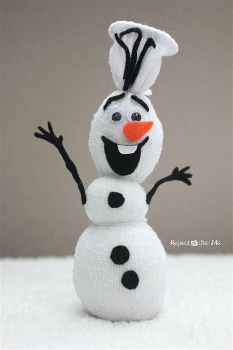 frozen sock snowman olaf sock snowman kid crafts culture