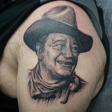 john wayne tattoos wayne by rodriguez tattoonow