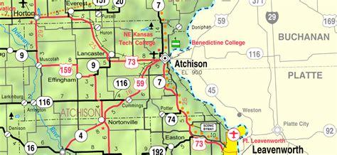 kansas usa map file map of atchison co ks usa png