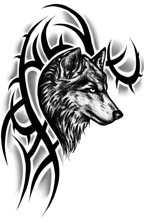 tribal wolf tattoo design tribal wolf sleeve tattoos www imgkid the image