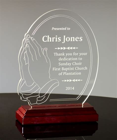 Home Design For Retirement praying hands acrylic award trophies corporate awards