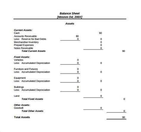 downloadable will template 18 sle balance sheets sle templates