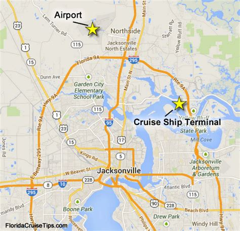map of jacksonville getting to the jacksonville port port transportation