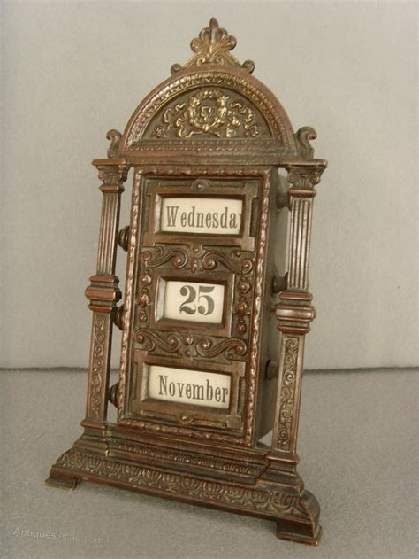 antique perpetual desk calendar antiques atlas 19th c patinated brass perpetual desk