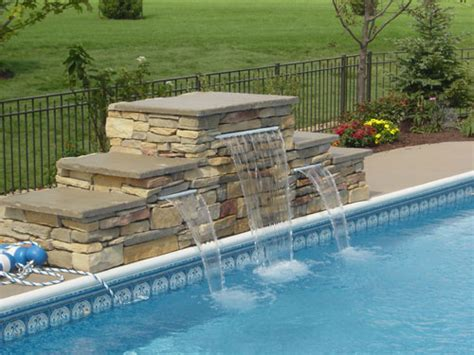 diy pool waterfall swimming pool waterfalls swimming pool water features