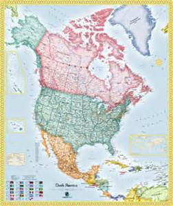 america political wall map maps