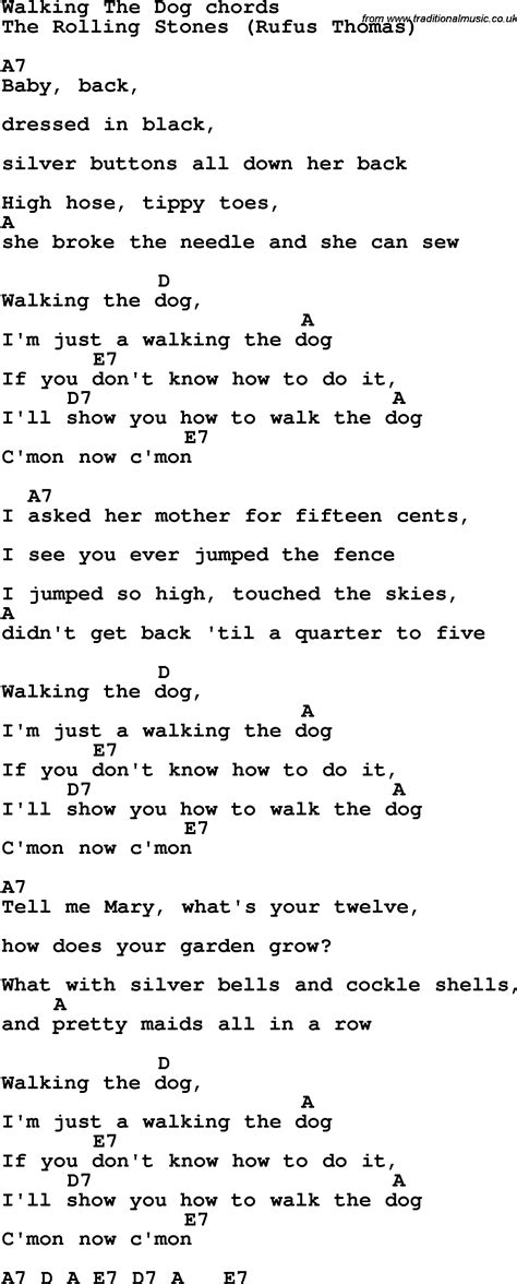 puppy songs song lyrics with guitar chords for walking the
