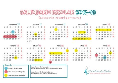 Calendario Escolar 2017 18 Mexico Calendario Escolar 2017 2018 En La Rioja