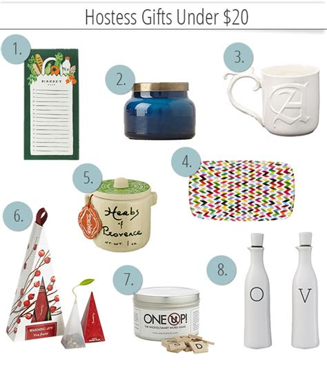 Gifts For 20 - easy unique hostess gifts 20