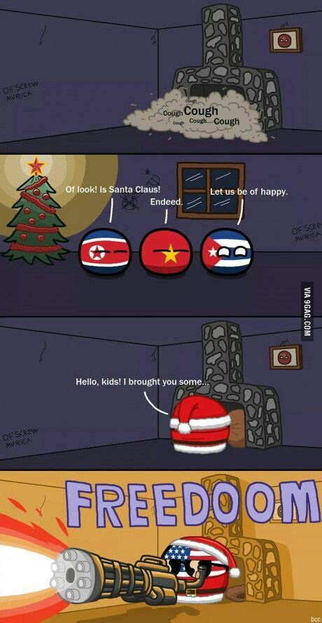 Countryball Meme - china korea cuba america freedom christmas memes
