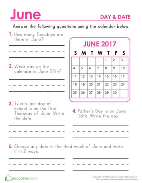 Calendar Worksheets Common Worksheets 187 1st Grade Calendar Worksheets
