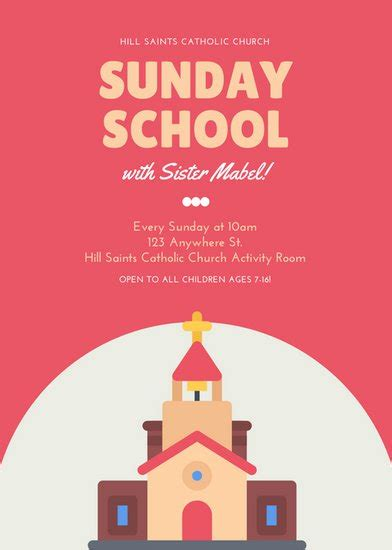 Customize 67 Church Flyer Templates Online Canva Sunday School Flyer Template