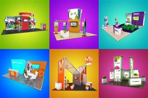booth graphic design inspiration 6 colorful trade show displays for design inspiration