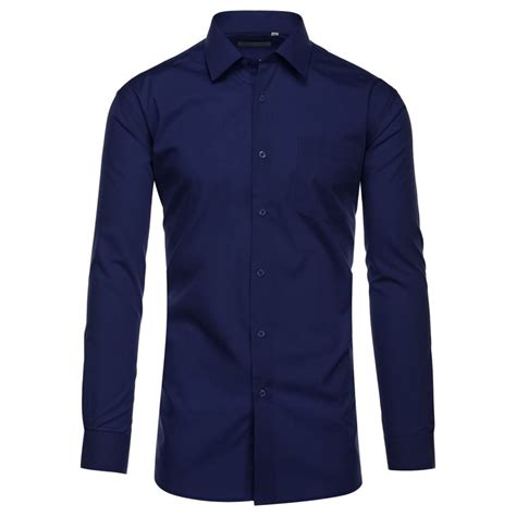 Shirt Navy navy dress shirt spread collar modern fashion fit