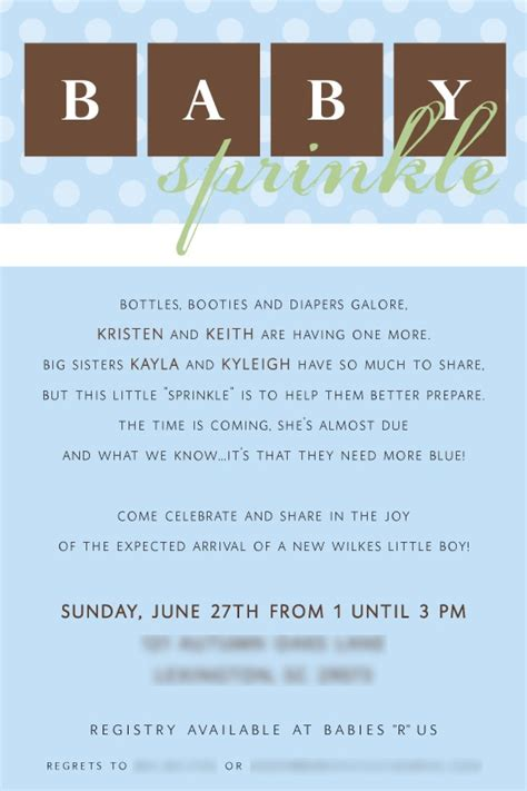 should you a second baby shower baby sprinkle invitation b a b y s h o w e r