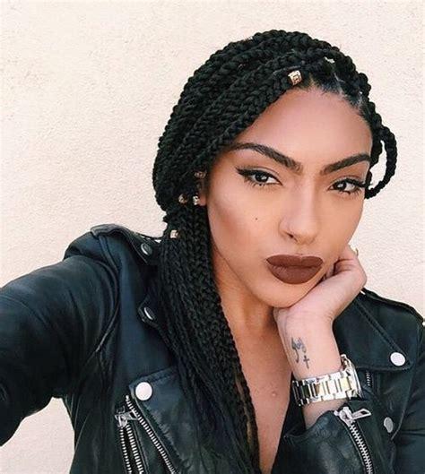 pictures of individual braids hairstyles medium length box braids blackhairstylez