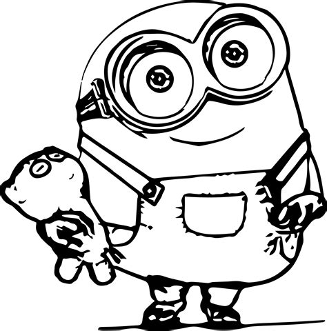 coloring pages of purple minion minions desenhos para colorir