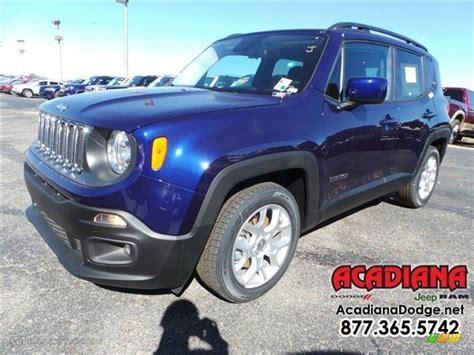 jeep renegade dark blue 2016 jetset blue jeep renegade latitude 110872978 photo