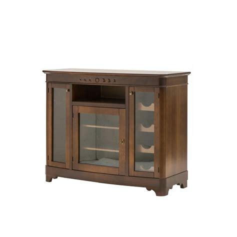 soggiorno in legno vetrinette classiche legno