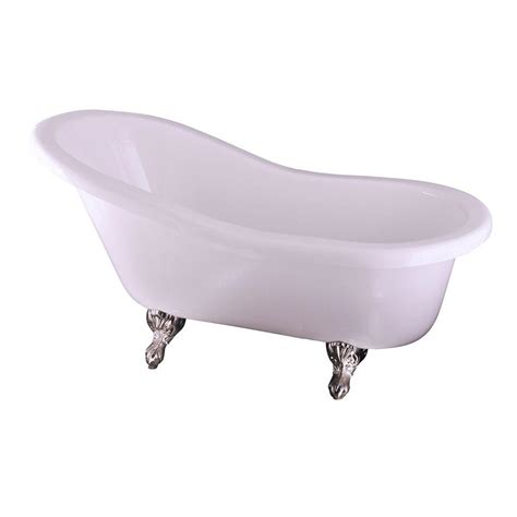6 ft bathtub barclay products 5 6 ft acrylic claw foot slipper tub in
