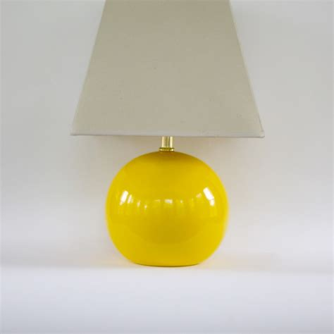 Vintage Modern Yellow Lamp Vintage Table Lamp Pantone Freesia