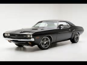 black 1971 dodge challenger rt car depth