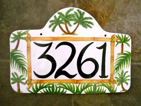 ceramic house numbers custom ceramic pottery personalized house numbers sign