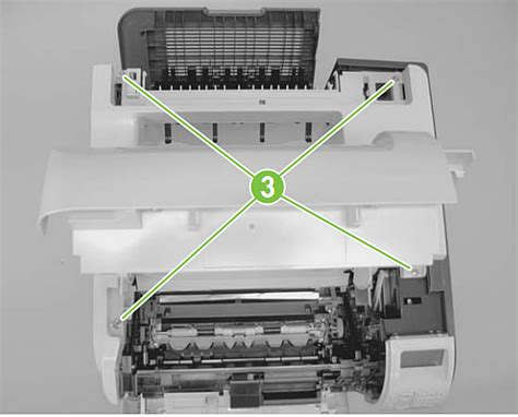 Cover Printer step 1 removing the covers laserjet p4014 p4015