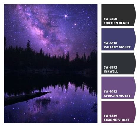 purple galaxy palette paint colors from chip it by sherwin williams walls