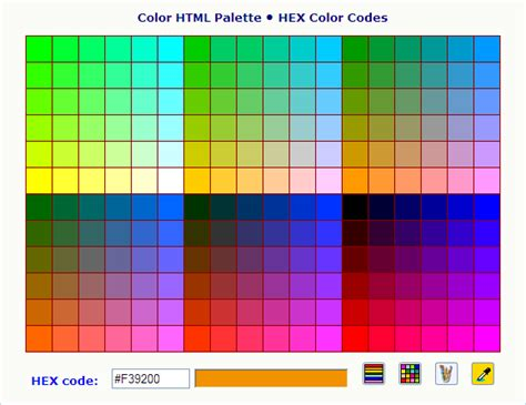 image gallery html color codes generator