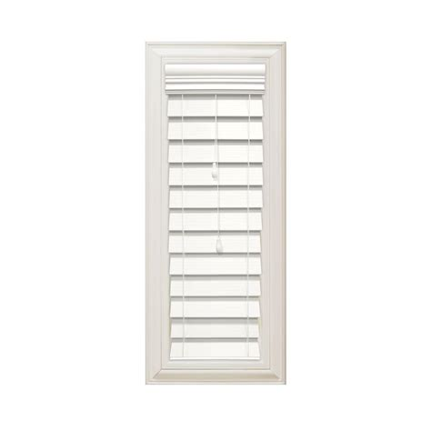 home decorators collection premium faux wood blinds home decorators collection cut to width white 2 1 2 in