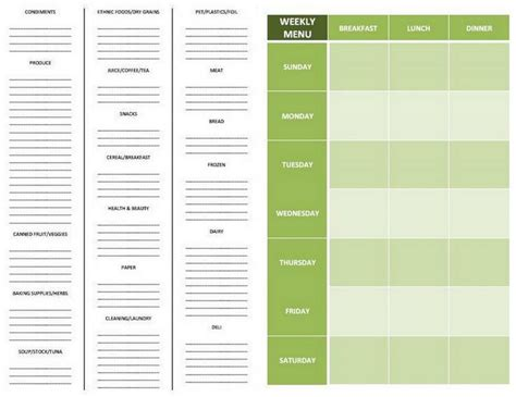 grocery list template by aisle 8 best images of printable grocery list by aisle free