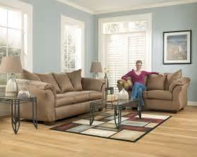 Ashley Darcy Loveseat Ashley Darcy Mocha Sofa Amp Loveseat Appliance Amp Furniture