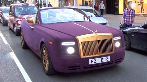 purple rolls royce crazy purple velvet and gold rolls royce spotted hell