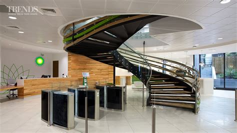 Staircase Design Ideas by Modern Office Fit Out For Bp With Central Spiral Staircase
