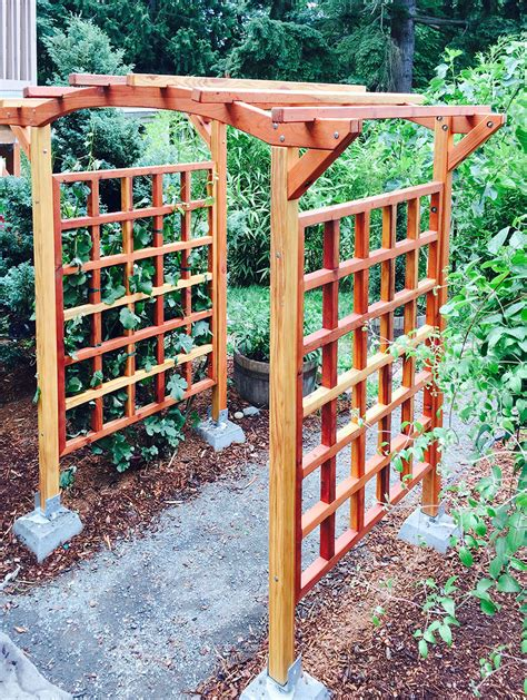 Arched Trellis For Sale Arched Arbor Kit For Sale Custom Made Forever Redwood