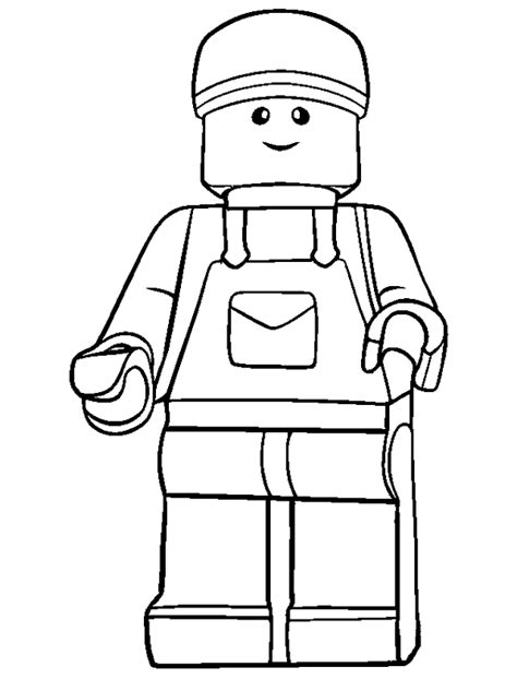 emmet lego coloring page lego emmet minifigure coloring page to print and free download