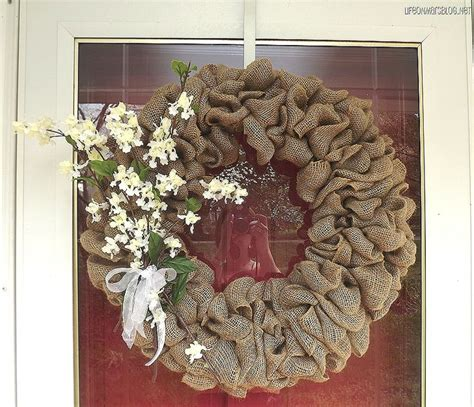 how to make a wreath with burlap burlap wreath how to wreaths pinterest
