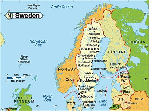 swedish country destination sweden travel and tourist information map
