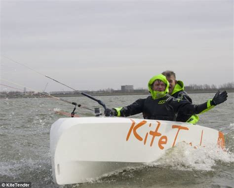 small boat kite fishing kitetender is a new bizarre craft that blends kitesurfing