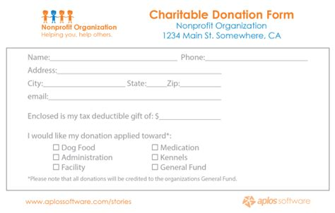 36 Free Donation Form Templates In Word Excel Pdf Donation Form Template For Non Profit