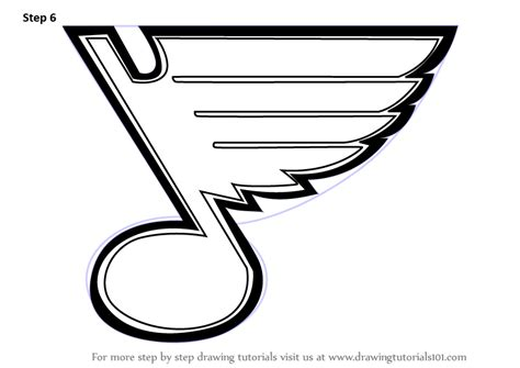 vector stl tutorial learn how to draw st louis blues logo nhl step by step