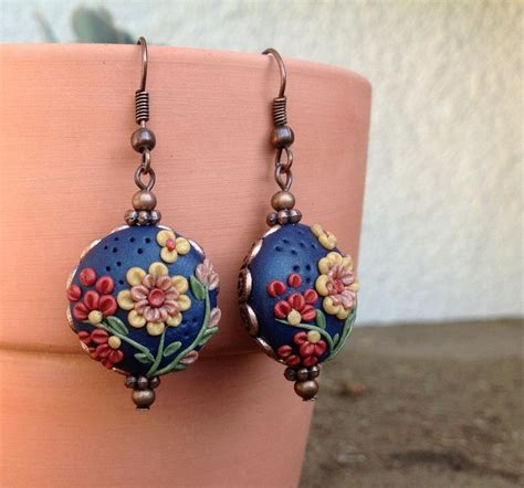clay jewelry ideas you to see in the garden polymer clay earrings on